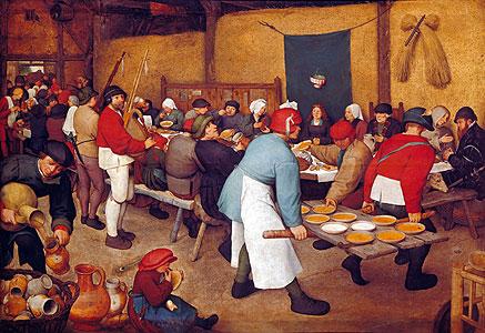 Bauernhochzeit - Pieter Brueghel