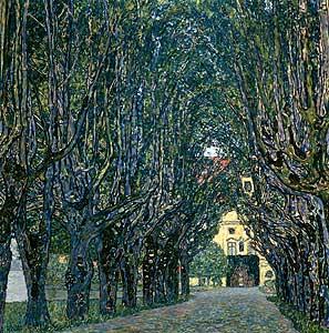 Allee im Park von Schloß Kammer - Gustav Klimt