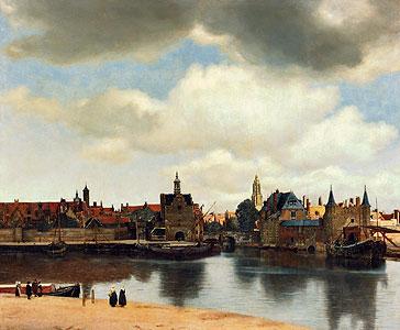 Ansicht der Stadt Delft um 1660 - Jan Vermeer