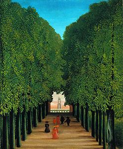 Die Allee im Park von St.Cloud - Henri Rousseau