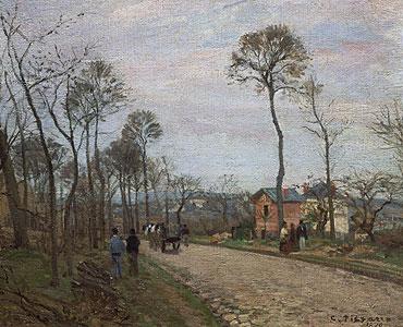Die Strasse von Louvecienne - Camille Pissarro