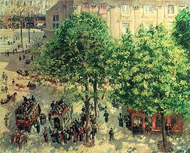 Place du Theatre in Paris - Camille Pissarro