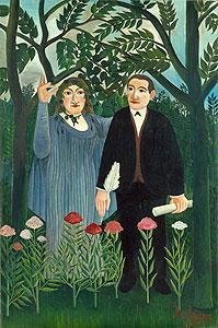 Der Poet Apollinaire und seine Muse - Henri Rousseau
