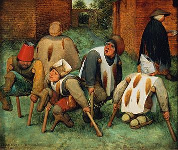 Die Bettler - Die Kr�ppel) - Pieter Brueghel