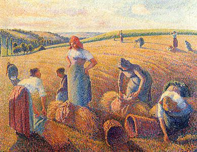 Die Ährensammlerinnen - Camille Pissarro