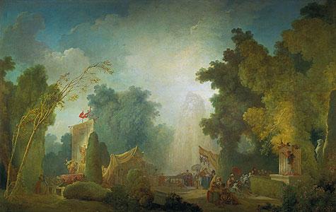 Das Fest im Park von St. Cloud - Jean Honore Fragonard