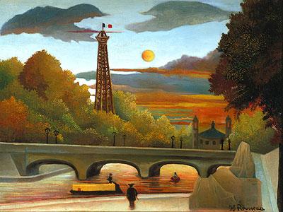 Seine und Eiffelturm in der Abendsonne - Henri Rousseau