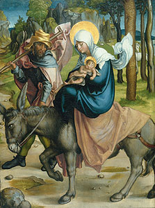 Die Flucht nach Ägypten. - Albrecht Dürer