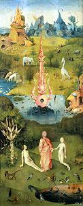 Der Garten der Lüste - linker Teil) - Hieronymus Bosch