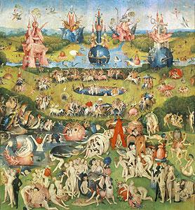 Der Garten der Lüste - mittlerer Teil) - Hieronymus Bosch