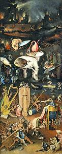 Der Garten der Lüste - rechterTeil) - Hieronymus Bosch