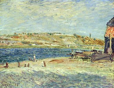 Ufer des Flusses Loing ... - Alfred Sisley