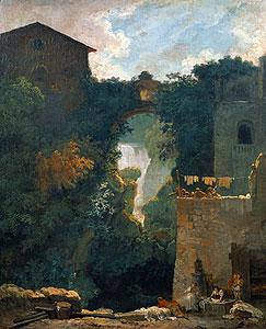 Die Wasserfälle von Tivoli - Jean Honore Fragonard