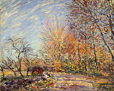 Sisley, Alfred - Am Waldrand bei Fontainebleau - Alfred Sisley