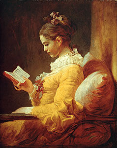 Lesendes Mädchen - Jean Honore Fragonard