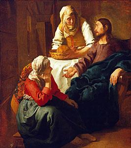 Christus im Hause Martha und Maria - Jan Vermeer