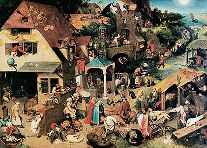 Die niederländischen Sprichwörter - Pieter Brueghel