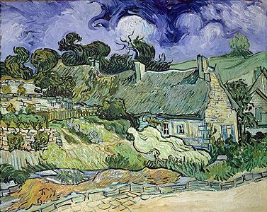 Strohdachhäuser in Cordeville - Vincent van Gogh