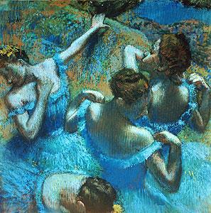 Degas, Edgar - T�nzerinnen im blauen Kost�men - Edgar Degas