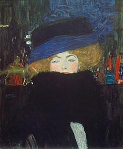 Bildnis einer Frau mit Hut - Gustav Klimt