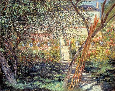 Der Garten in V�theuil - Claude Monet