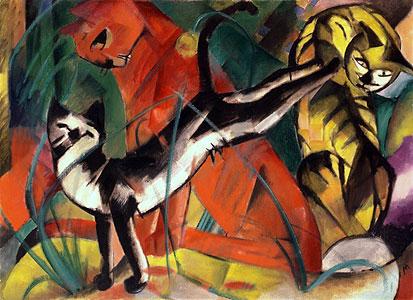 Drei Katzen - Franz Marc