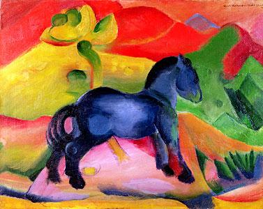 Kleines blaues Pferd - Franz Marc