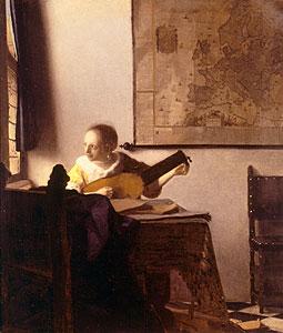Lautenspielerin am Fenster - Jan Vermeer