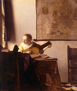 Vermeer, Jan - Lautenspielerin am Fenster - Jan Vermeer