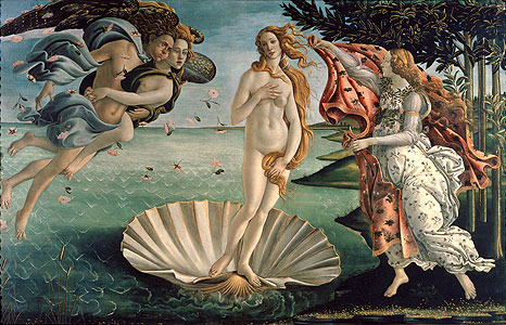 Geburt der Venus - Sandro Botticellim
