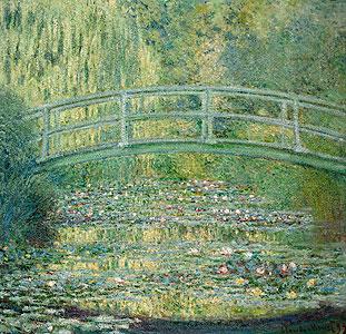 Seerosenteich und japanische Brücke - Claude Monet