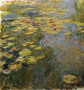 Rote Seerosen - Claude Monet