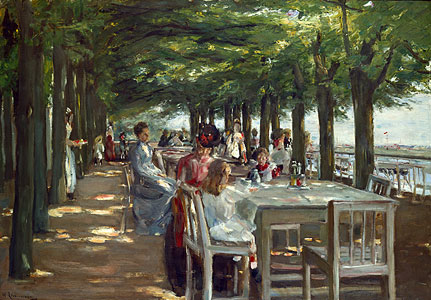 Liebermann, Max - Terrasse Restaurants Jacob Nienstedten an d - Max Liebermann) a