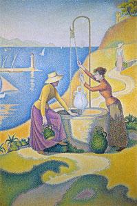 Junge Provencalinnen am Brunnen - Paul Signac