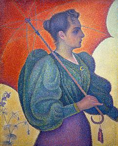 Bildnis der Berthe Signac mit Schirm - Paul Signac
