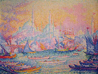 Signac, Paul - Ansicht von Istambul - Paul Signac