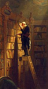 Der Bücherwurm - Carl Spitzweg