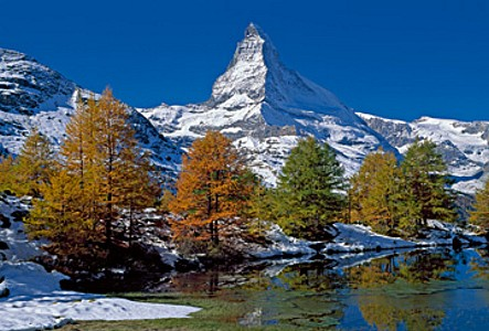 Matterhorn with larches II - Thomas Marent