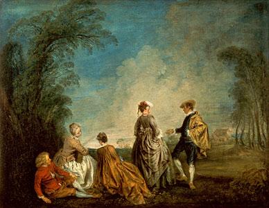 Ein eindeutiges Angebot - Jean Antoine Watteau