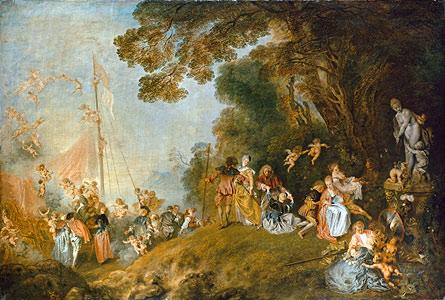 Die Einschiffung nach Kythera - Jean Antoine Watteau