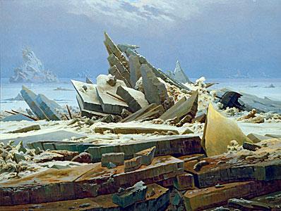 Das Eismeer - Die gescheiterte Hoffnung) - Caspar David Friedric