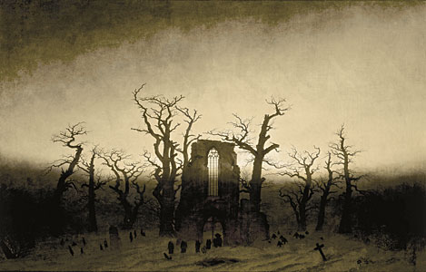 Abtei im Eichwald - Caspar David Friedrich