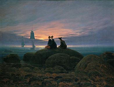 Mondaufgang am Meer - Caspar David Friedrich