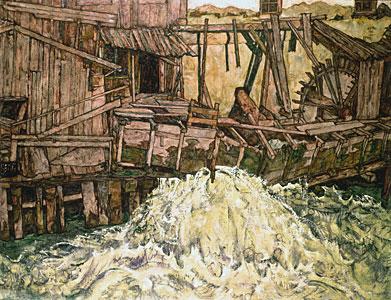 Die Mühle - Egon Schiele