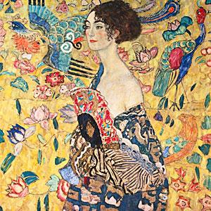 Klimt, Gustav - Dame mit F�cher - Gustav Klimt