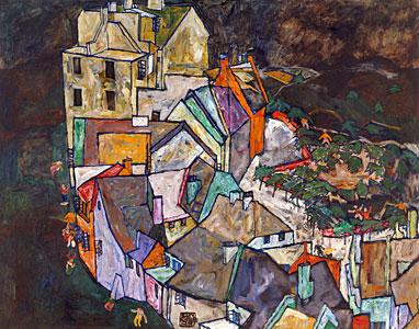 Stadtende III - Egon Schiele