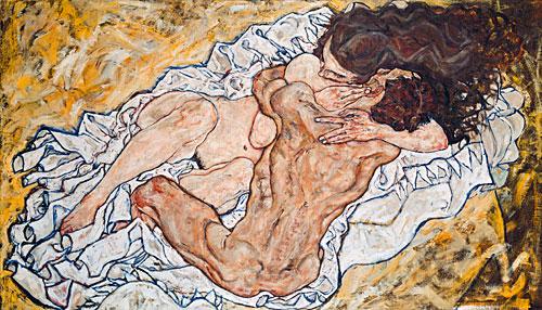 Die Umarmung -  Liebespaar II ) - Egon Schiele