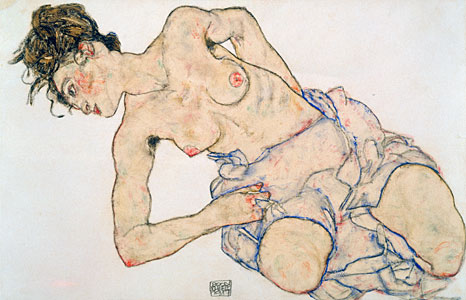 Weiblicher Halbakt - Egon Schiele