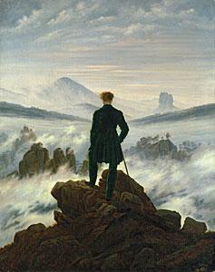 Der Wanderer über dem Nebelmeer - Caspar David Friedrich