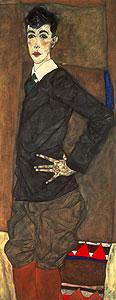 Schiele, Egon - Bildnis Erich Lederer - Egon Schielem